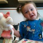 Painting Minnie Mouse at Pots & Pancakes