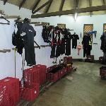 dive gear room