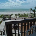 Private porch overlooking the Gulf