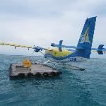 transfer from plane to boat/dhoni