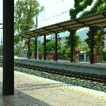 Great train service 2 minutes from hotel