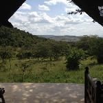 utsikt från tältet