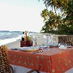 Refeição privativa na praia