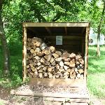 Wood store for campfires and the log burners in the yurts