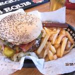 Typical hamburger