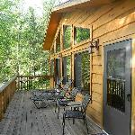 The deck of the Riverview cabin