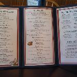 Rupe's menu