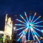 Carnival lights at night