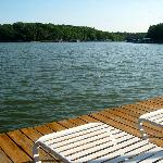 loungers on the dock, plenty of pool toys for swimming