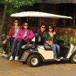 golf cart if you cannt walk till your room