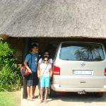 outside cottage with our car parked