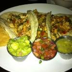 chicken tacos. that guacamole there is phenom!
