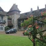 Our car at the manoir
