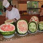The melon carvings