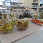 Teilbereich des üppigen Frühstückbuffets