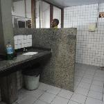 Clean toilet facilities