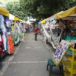 Some stalls outside