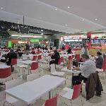 Sitting in the food court