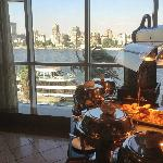 The River Nile View from inside the restaurant