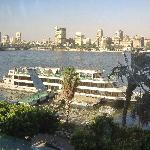 Restaurant's Window view on the River Nile
