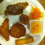 Mixed entree plate