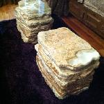 marble stacked coffee table