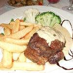My steak dinner, only £20.00