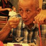 My 74y dad enjoying his ube decadence. Just right for his taste, not too sweet :)