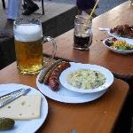 German Beergarten Food - Beer