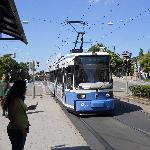 Tram down the street