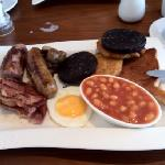 my full English - the extra hash brown and black pudding were from my wife's plate as she does n
