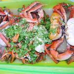 Caranguejos - um dos pratos favoritos.