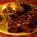 Big, fat, juicy, charbroiled New York Steak.  Mmmmmm!