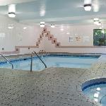 Indoor pool, hot tub, and steam room