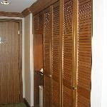 Door and large closet space