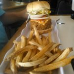 buffalo burger and fries
