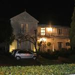 The manor at night