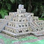 Outdoor scale model Azt4ec & Mayan architecture