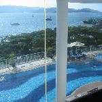 pool view from lounge area