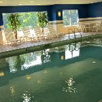Indoor Pool, not quite blue??