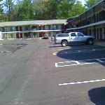 parking lot and most of the motel