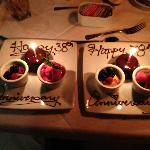 Our personalized desserts, just for us! Wow!