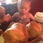 Popovers as big as the baby's head!