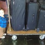My grandson loved the luggage carts