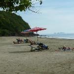 Beach infront of Sukorn Beach bungalow