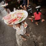 fruit street seller kids