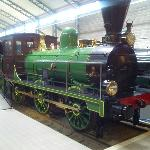 a locomotive at the museum