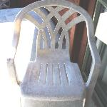 Dirty broken seat on the patio