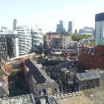 View looking down from room to Old Street station