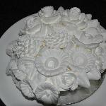 Flowers carved from fresh cream only at TJ